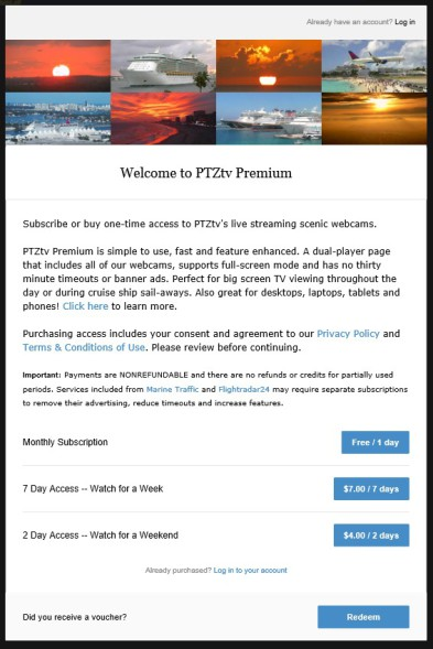 Subscribe to PTZtv Premium